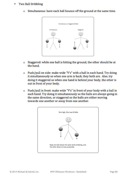 Two Ball Dribbling diagrams