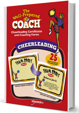 Cheerleading award certificate templates