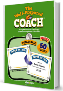 Volleyball award certificate templates