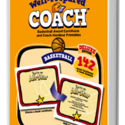 The Well-Prepared Coach — Basketball Award Certificate Printables