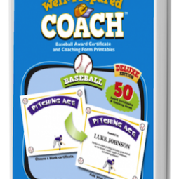 The Well-Prepared Coach — Baseball Award Certificate and Coach Handout Printables